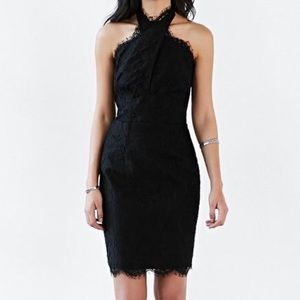 NWT Keepsake High Roads Lace Halter Cocktail Dress